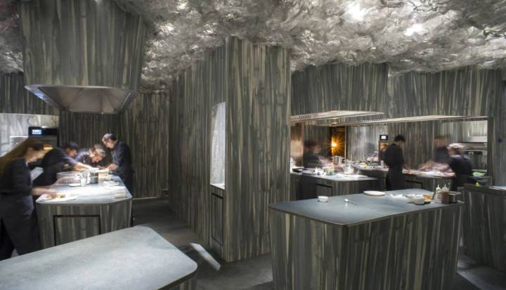 Enigma restaurant featuring Neolith sintered stone by TheSize