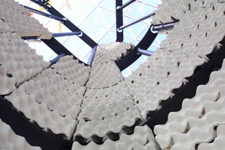 Pavilion by Harvard University explores 3D printing of ceramics