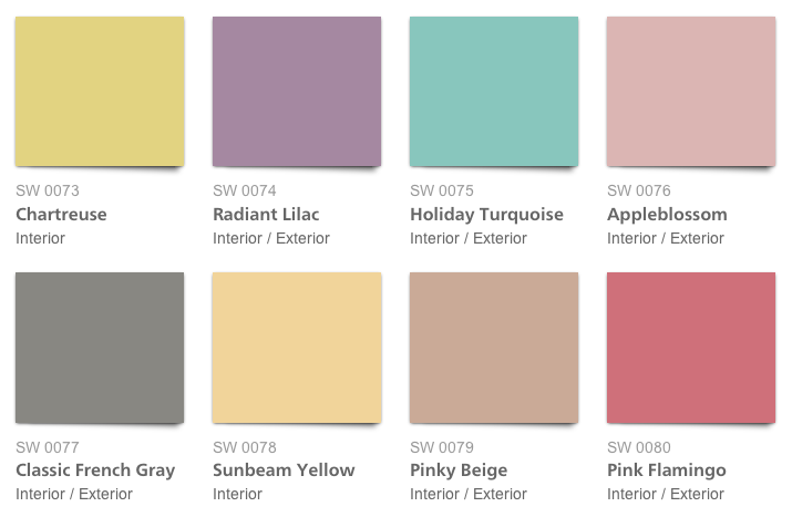 Sherwin-Williams 1950s Palette