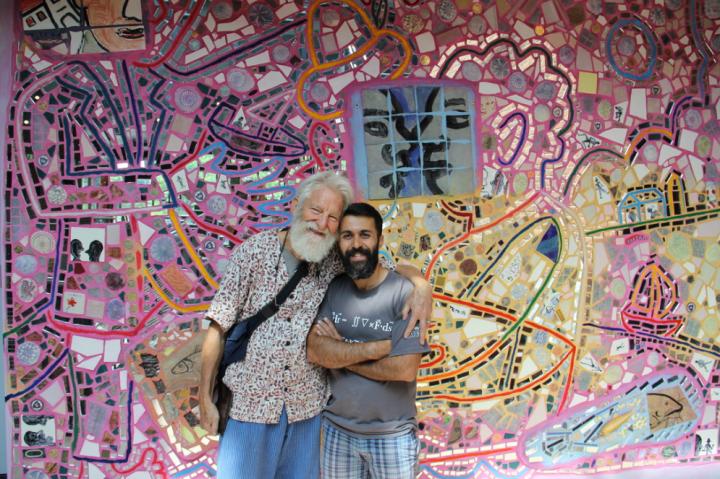 Isaiah Zagar with artist Majid Iraei