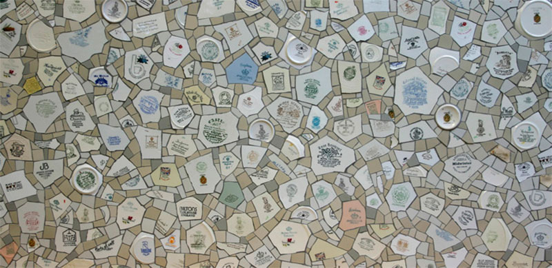 Made in England mosaic mural
