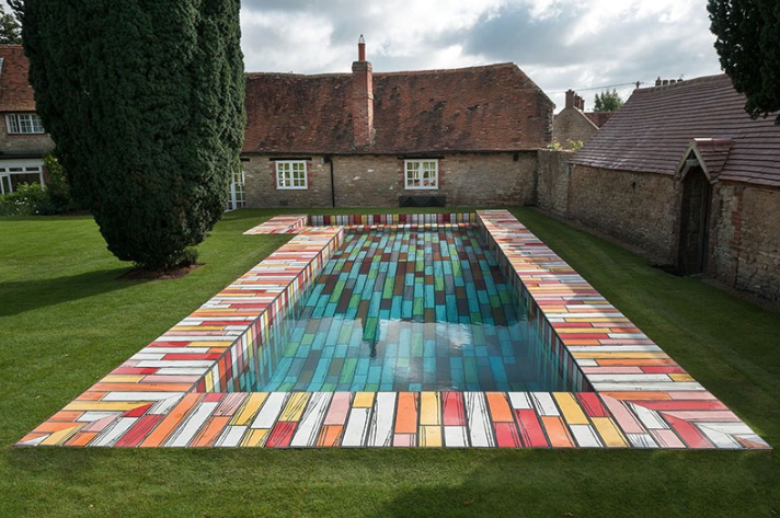 Richard Woods' swimming pool at Albion Barn