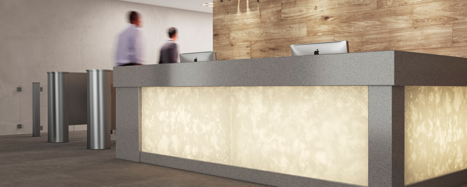 Transcluent Backstage tile, 600 by 1,200mm, by Ceramica Portinari