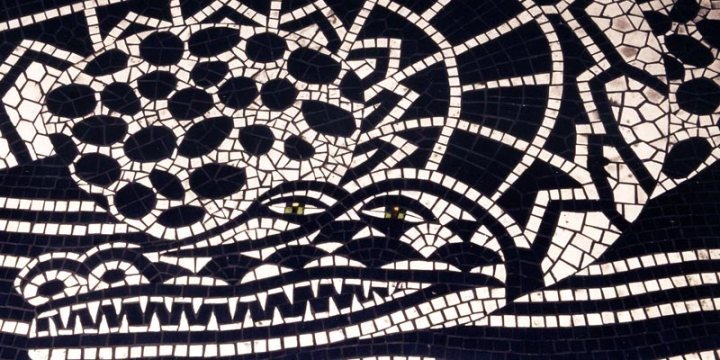 Mosaic for the entrance to the Groucho Club by Emma Biggs