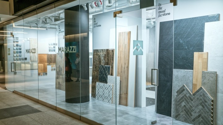 Marazzi new Polish showroom in Warsaw's Ochota district