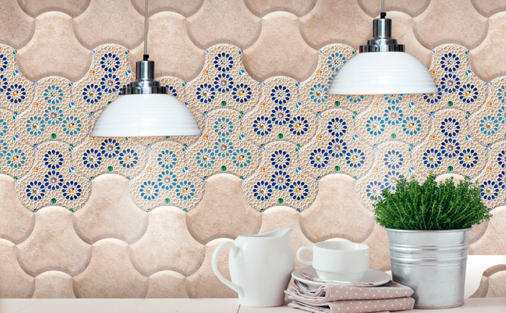 Fan Stone Beige and Andalus by Bouquet Ceramica