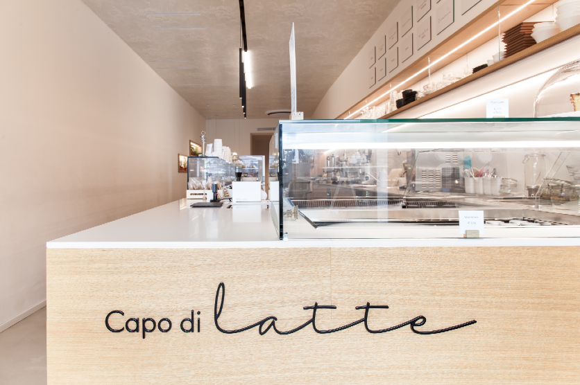 The Capo di Latte ice cream parlour, Vicenza
