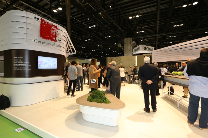 Strada Dinamica: the Ceramics of Italy central stand at Coverings