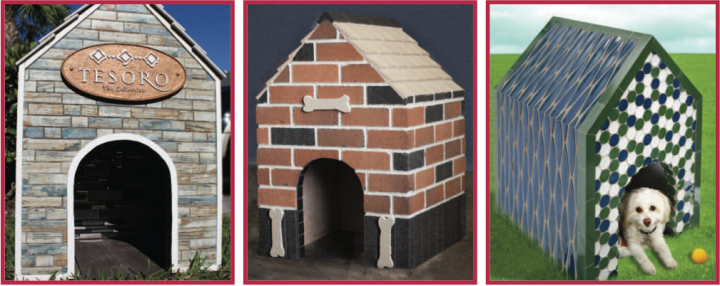 Coverings doghouses by International Wholesale Tile, Ironrock, and Lunada Bay