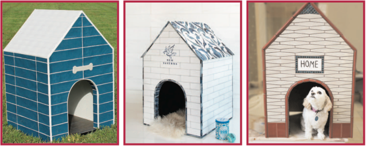 Coverings doghouses by Marazzi, New Ravenna, and Quemere Designs