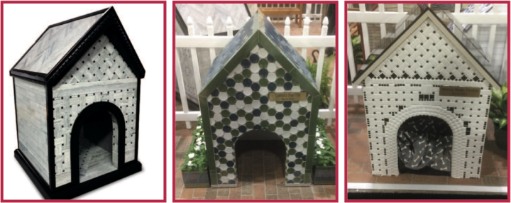 Coverings doghouses by Stonepeak Ceramics, Lunada Bay, and American Wonder Porcelain