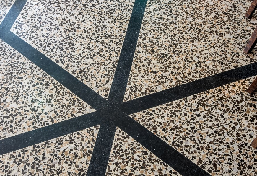 Diespeker & Co's bespoke terrazzo installation at the Osh restaurant in Knightsbridge