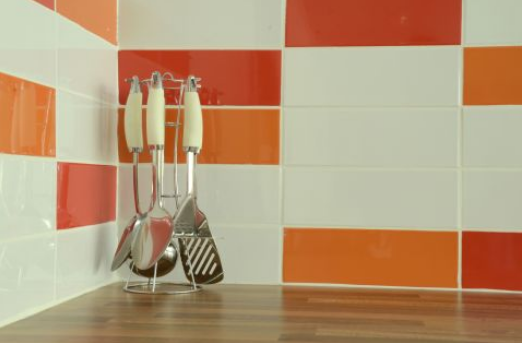 Liso Naranja Gloss from the Kitchen Collection by Stokes Tiles