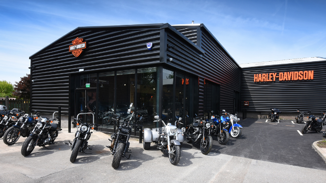The new Harley-Davidson showroom in Manchester, England