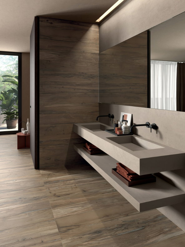 Washbasin and vanity top from Crossroad range by ABK
