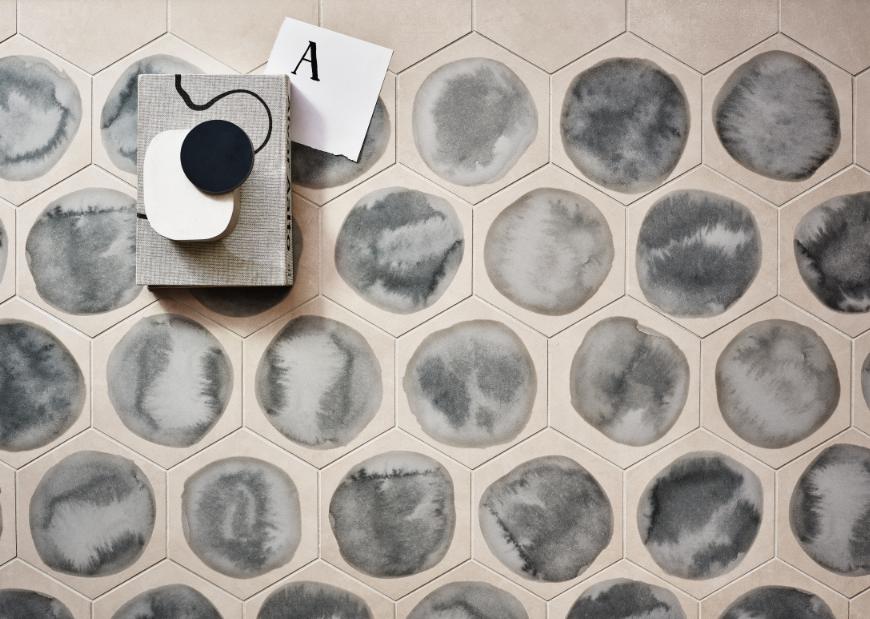 Shades Dawn Blot hexagons by Ceramiche Piemme