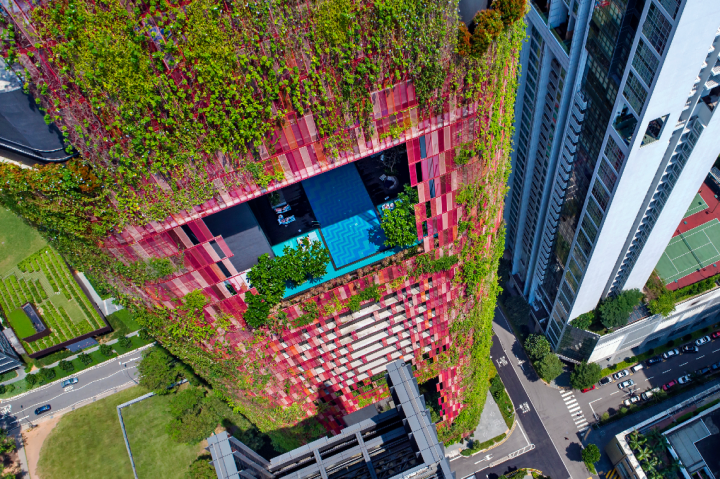 The Oasia Hotel, Singapore by WOHA with Patricia Urquiola