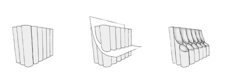 Heatherwick Studio's tubular cutting plan