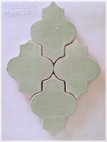 Arabesque Verde Jade from Alteret Ceramics (150x115x10mm)