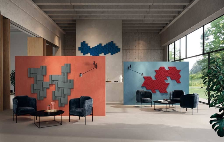 Rilievi in Terra, Nebbia and Lido & decor, designed by Zaven