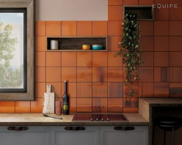 Habitat Tangerine and Cala Tangerine from Equipe (200x200mm)