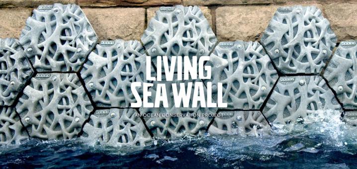 Volvo's living sea wall