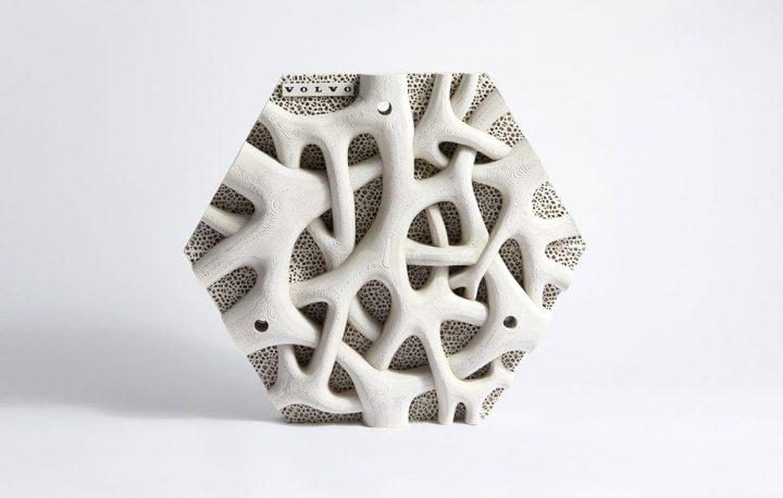 Volvo's hexagonal 3D printed mangrove root imitation tile