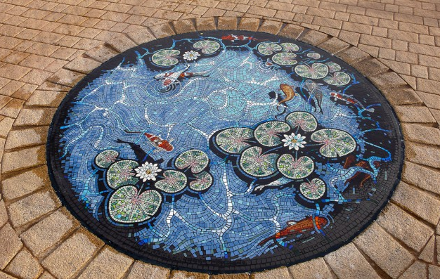 Mosaic installation by Gary Drostle