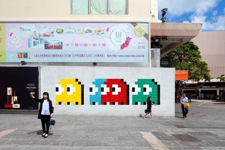 invader tile ceramic street artist Hong Kong 2018