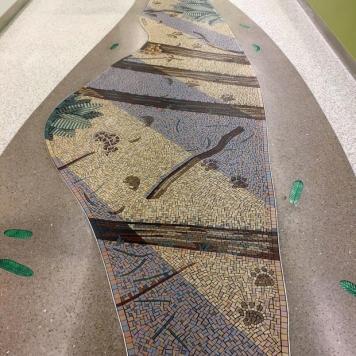 redwood mountain lion tracks mosaic gary drostle