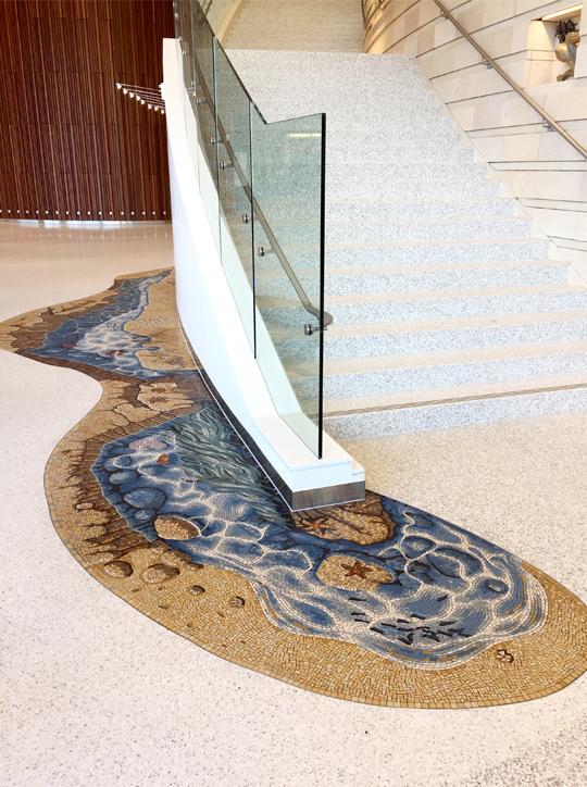 tide pool californian seashore mosaic hospital gary drostle