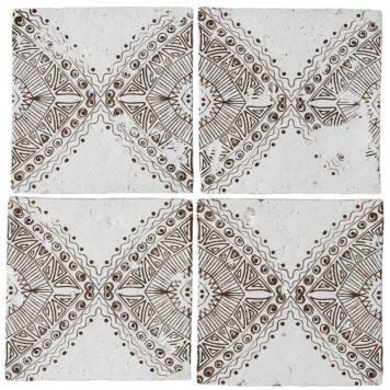 Bazaar Aztec Mandarin Stone glazed terracotta tiles
