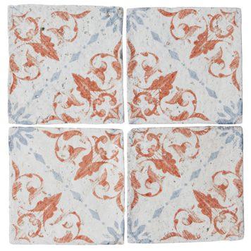 Bazaar Batiste Mandarin Stone glazed terracotta tiles