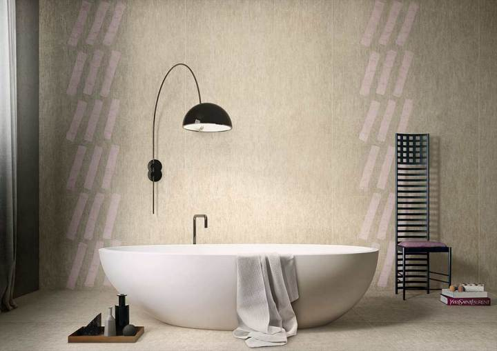 Obliquo Verticale and Tela Euridice Giorgio Griffa tile design