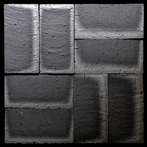 Kasuri Flat Wall Tile (137.5mm by 137.5mm by 9mm) Koyo Ibushi Ibushi Kawara clay tiles
