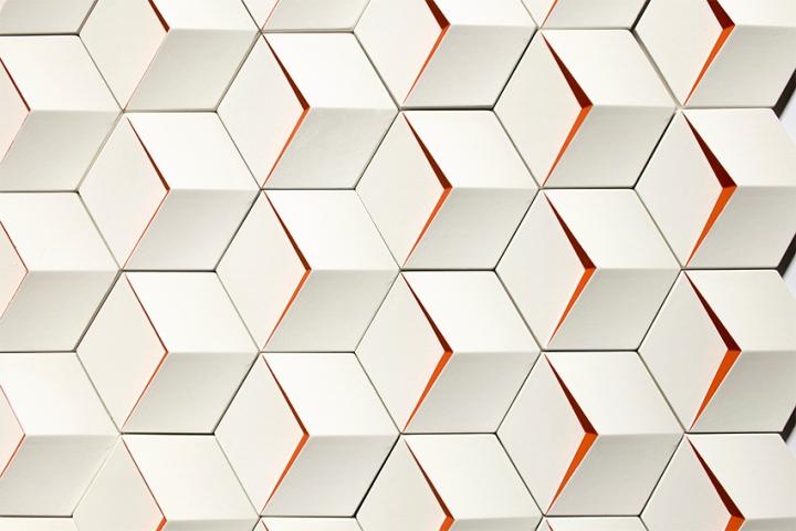 Perspective tiles rondine 3d italian viviana degrandi