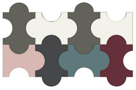 """Four curve"" tile Triennale Marazzi Clerkenwell Design Week"