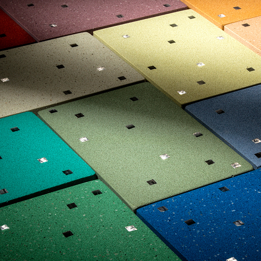 Sensitile terrazzo scattered light reflecting surface