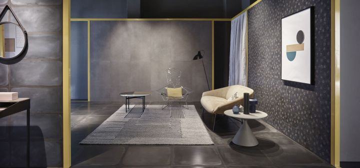 Shades Night Wash Nat (600x600mm), Night Wash Nat (300x600mm), and Night Drip Nat (200x200mm) Ceramiche Piemme tile range NYCxDESIGN