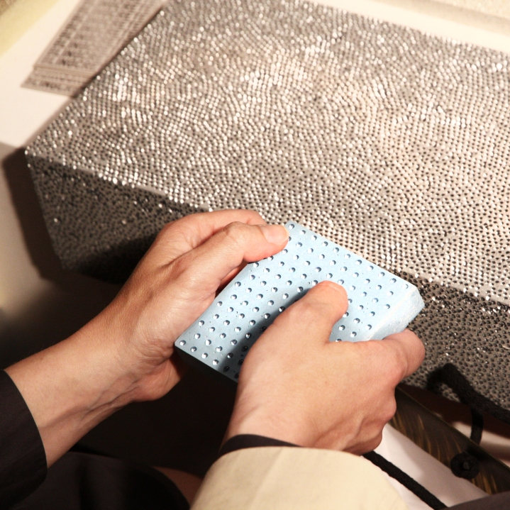 BlingCrete luminous concrete sparkling glass beads light reflecting surface