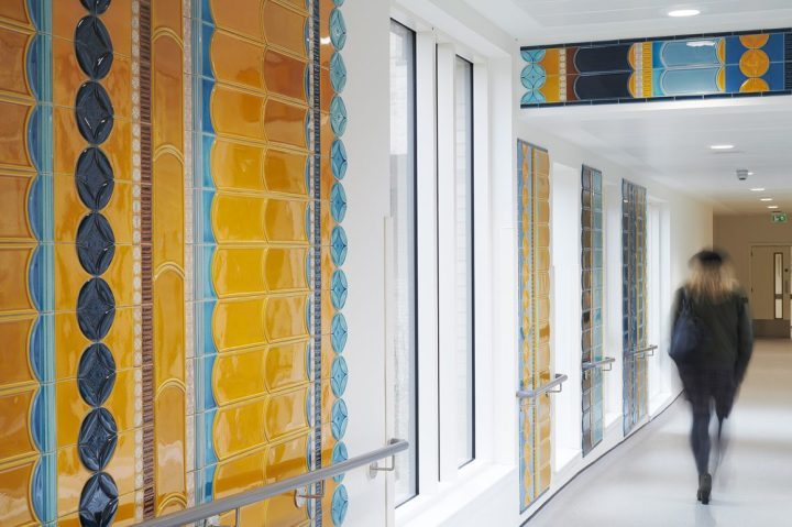 Frances Priest tiled corridor edinburgh royal hospital comission