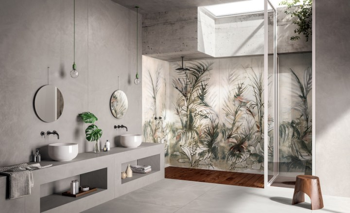 Dream Jungle from Fondovalle tropical tile design