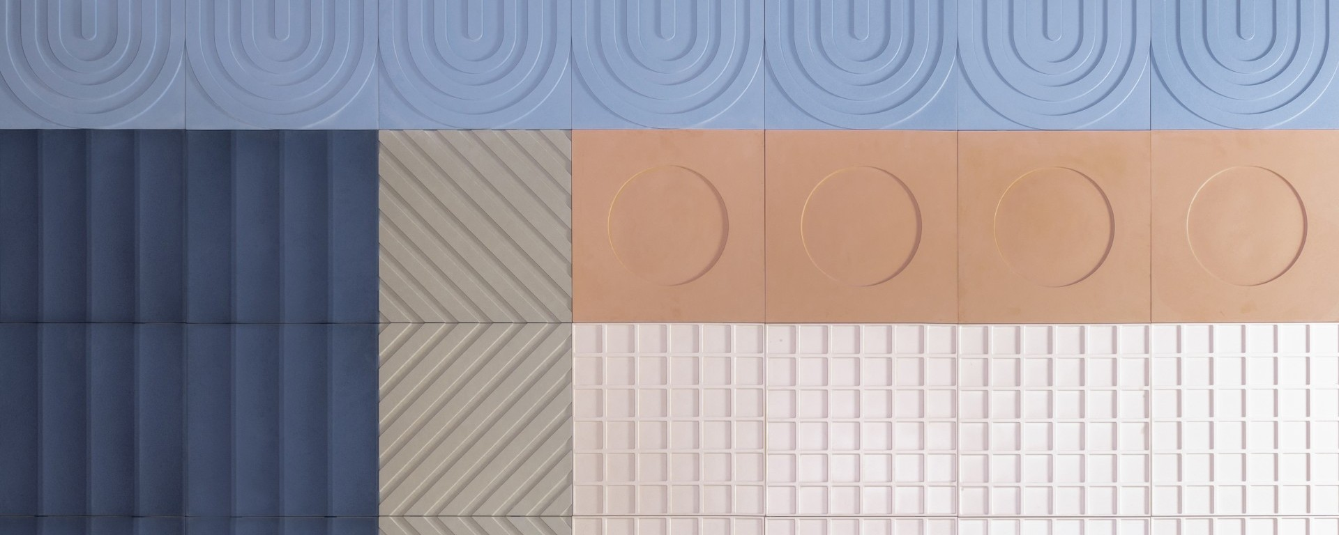 Kaza Concrete Diverge collection Aimee Munro 3d tile
