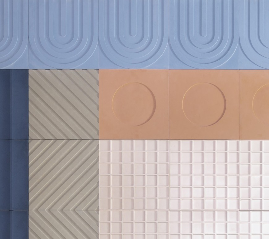 Kaza Concrete Diverge collection Aimee Munro 3d tile