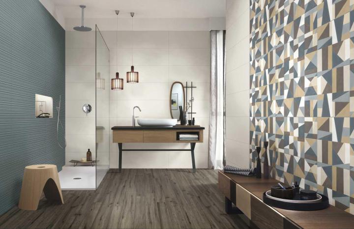Marazzi new tile collection Colorplay Cream, Cream Decor Tiles, and Sage Struttura 3D Mikado (300x900mm)
