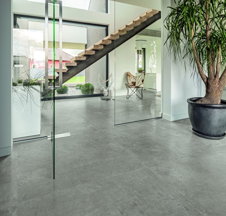 CON.CREA Cloud Aristotea brushed cement look porcelain tile