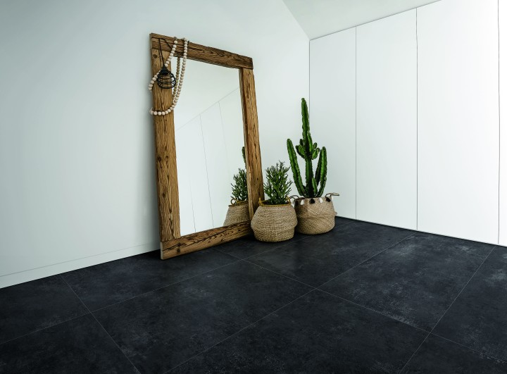 CON.CREA Ink Aristotea brushed cement look porcelain tile