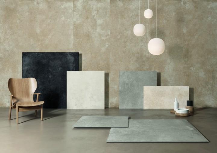 CON.CREA Cloud Aristotea brushed cement look porcelain tile