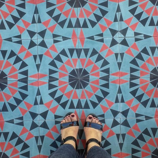 Kismet Zocalo in Noche Kismet cement tile design