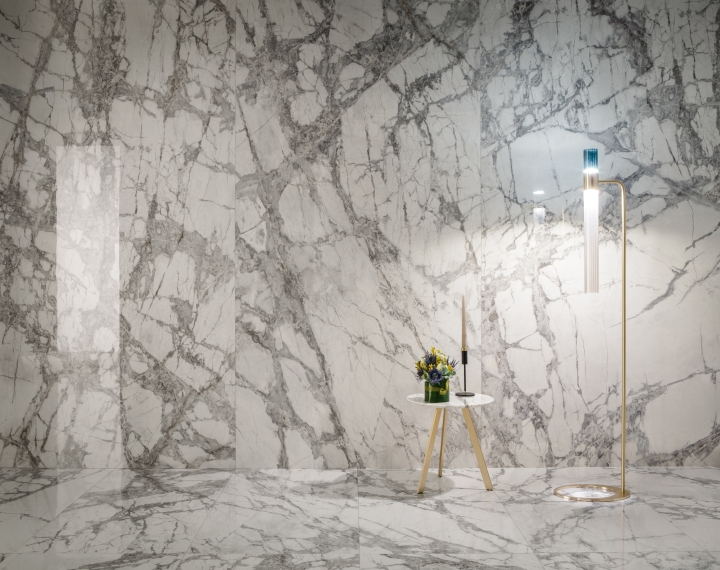 Delight Invisible Light by Lea Ceramiche Cersaie tile collections large format marble look